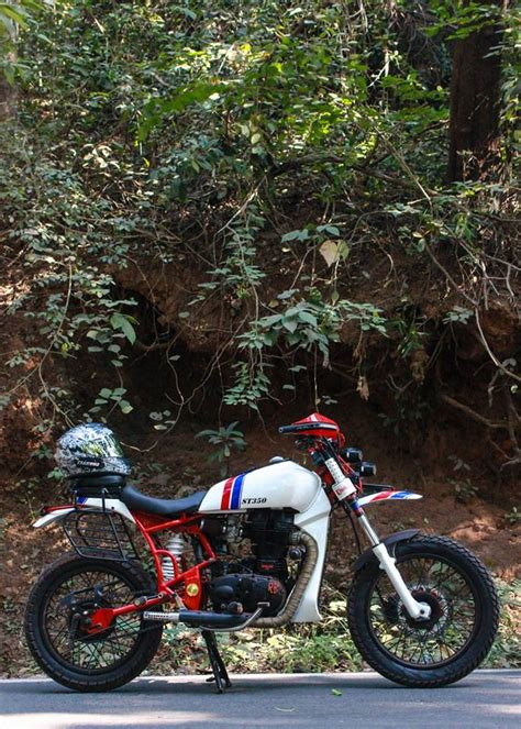 import motocross bikes st350 dirt scrambler tracker 350 by haldankar customs