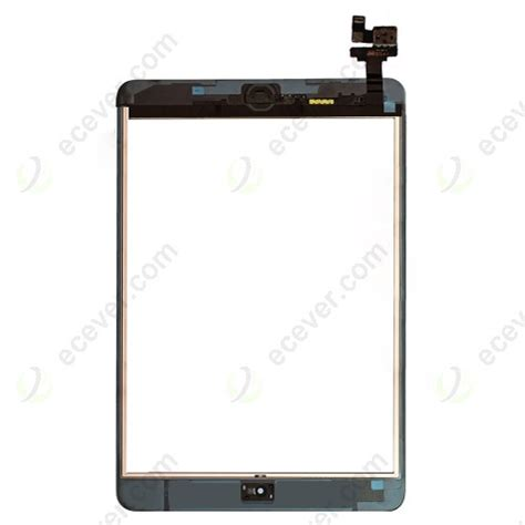 Flexsible Touchscreen Mini Ic Ori oem digitizer touch screen with ic connector chip home button flex assembly for mini black