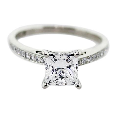 princess cut diamond engagement rings with white gold   iPunya