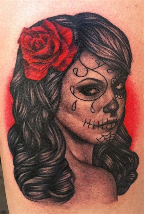 dead rose tattoo meaning day of the dead by pepper tattoonow