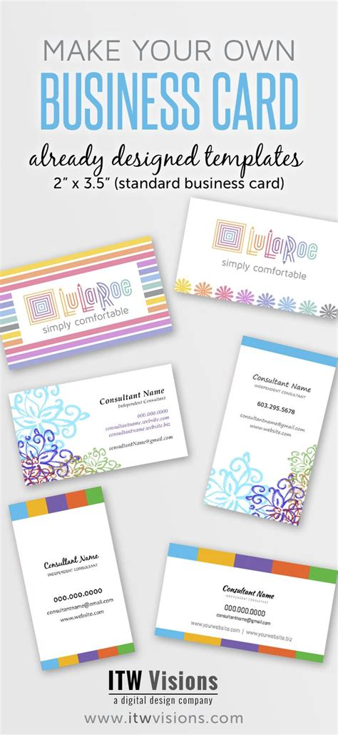 make your own business cards templates free 23 best lularoe images on accounting
