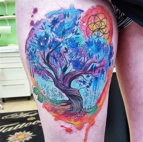 watercolor tattoos glasgow watercolor tattoos beauteous trees tattoodo