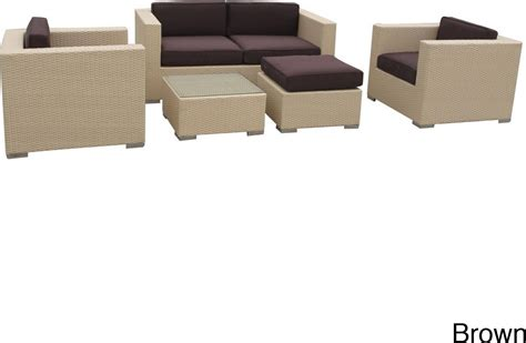 Outdoor Sofa Sectional Set Malibu Collection 5 Wicker Outdoor Sectional Sofa Set Patio Table
