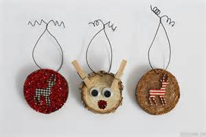 deer wood slice ornaments rustic christmas