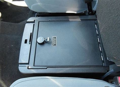 car seat gun safe console vault ford f350 front middle seat 2011