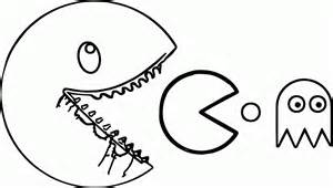 free coloring pages pac man coloring home