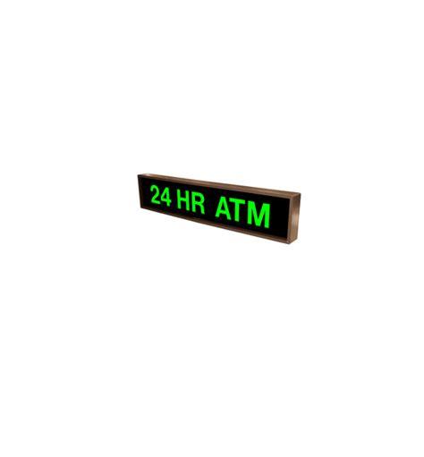 Sign Led Atm led 24 hr atm sign backlit backlit 24 hr atm sign led