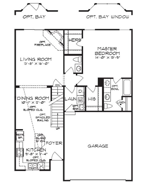 house plans 1 1 2 story floorplan