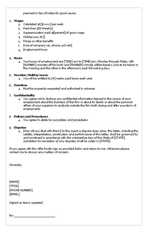 Appointment Letters Format Employees Employees Letter Of Appointment Tko Policy Procedure