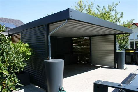 doppelcarport mit abstellraum 276 design metall carport aus stahl holz blech glas