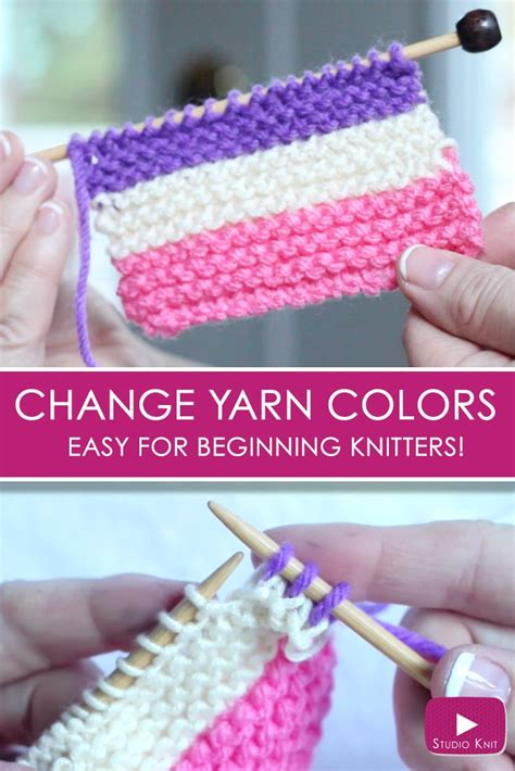 how to change colors when knitting in the how to change yarn colors while knitting studio knit