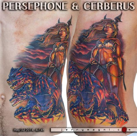 persephone tattoo persephone cerberus by jerry magni tattoonow