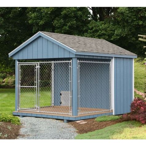 heated kennel amish blue kennel 8 x 10