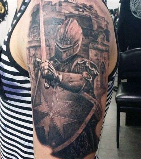 medieval knight tattoo designs tattoos half sleeve
