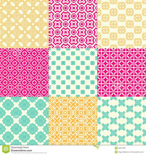 ornamental seamless pattern vector abstract background pattern set stock vector image 50877983