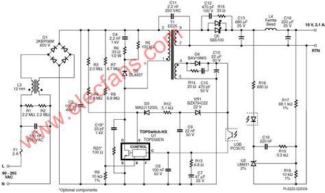 Top256en 使用top256en设计的40 w笔记本电源的电路图 模拟电源 电子工程世界网