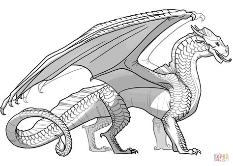 seawing dragon coloring page wings of fire sandwing dragon coloring page free