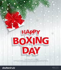 happy boxing day illustration