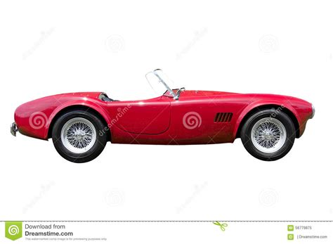 red convertible sports car isolated stock photo image