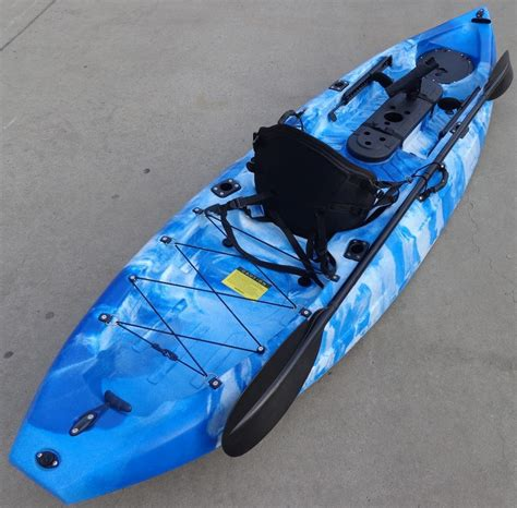 ocean kayak comfort pro seat blue white pro angler 2016 single fishing kayak ocean