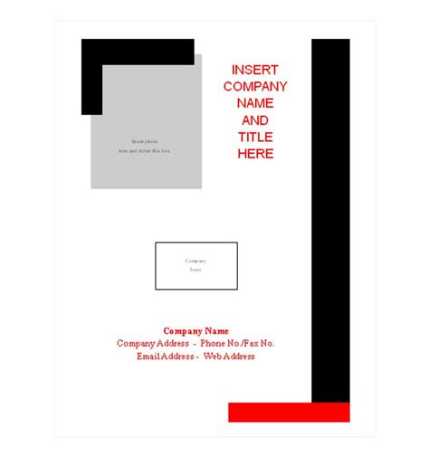 Report Cover Page Template Report Cover Page Presentation Cover Page Template