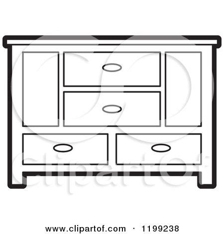 clipart   black  white sideboard cabinet  royalty