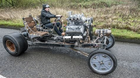 inventor builds steampunk inspired automatron car youtube