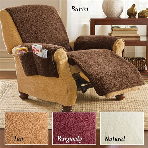 fleece recliner chair covers protective fleece recliner furniture cover by collections