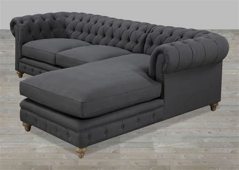 tufted leather sofa with chaise tufted sectional sofa chaise decenni tobias 10 foot