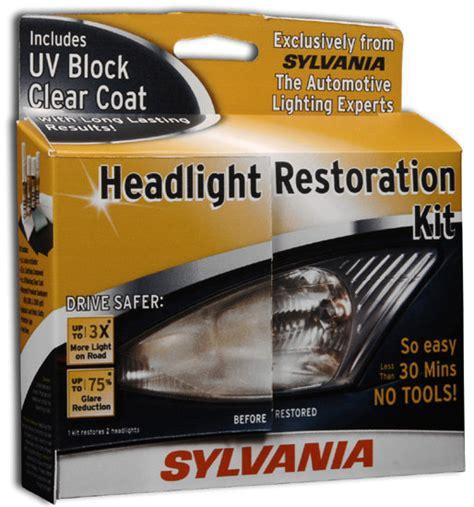 headlight restoration kit sylvania headlight restoration kit automotive