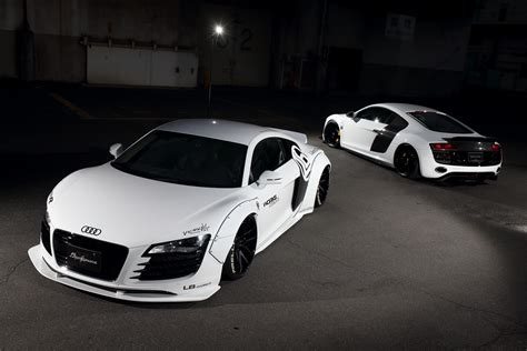 first audi r8 liberty walk dresses up first gen audi r8 carscoops