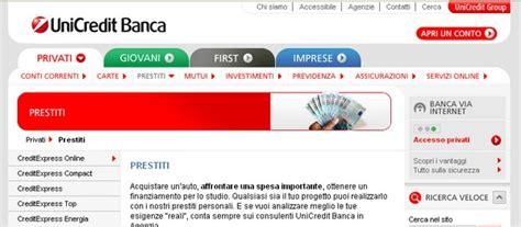 www unicredit on line prestiti personali unicredit