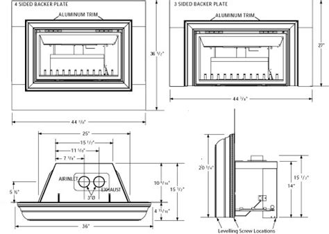 Gas Fireplace Specs by Gas Fireplace Inserts Dimensions Crafts