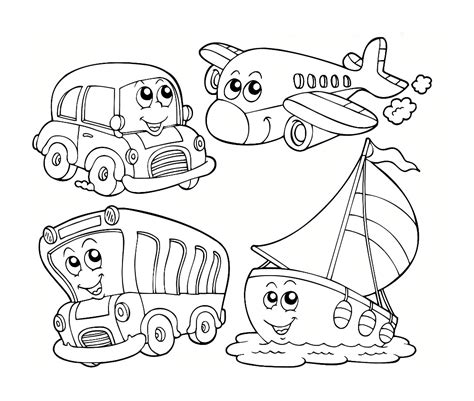 Preschool Coloring Pages Transportation | 8 best images of free transportation preschool printable