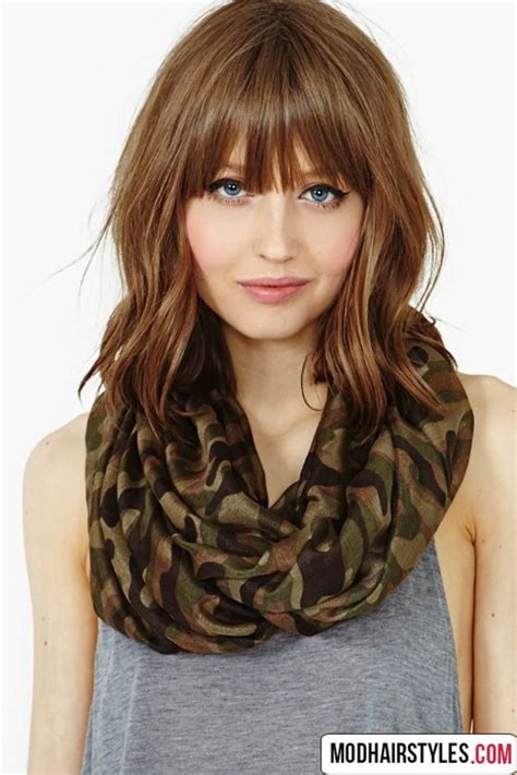 medium haircut with bangs medium haircuts with bangs 2016