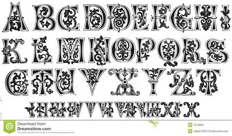 lettere gotiche da stare undicesimi iniziali di secolo e numeri romani immagini