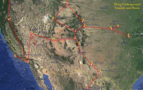 map of us underground tunnels underground bases d u m b secrets of