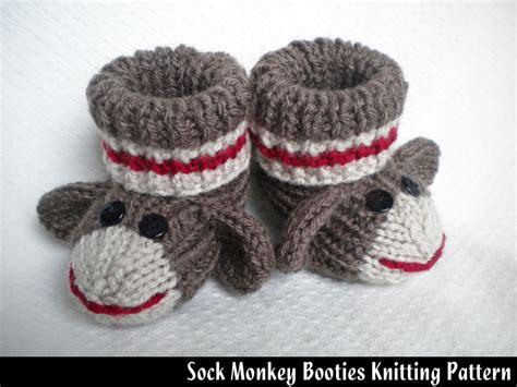 Sock Monkey Baby Booties Knitting Pattern On Luulla