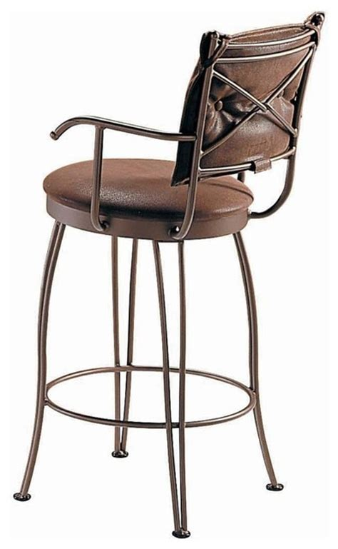 bar stools counter height with arms trica bill ii swivel bar stool with arms 26 inches
