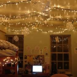 white christmas lights on bedroom ceiling so pretty