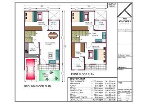 40 x 50 house floor 40 x 50 house plans west facing