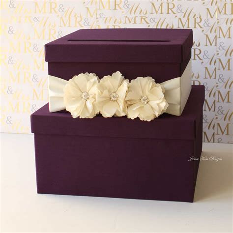 how to make a card box for wedding reception purple tiered wedding card box 13 gorgeous wedding card