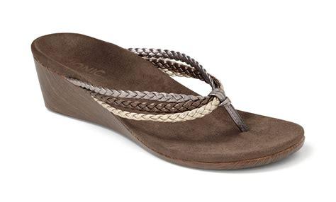 orthaheel wedge sandals vionic ramba orthotic wedge sandals orthaheel all