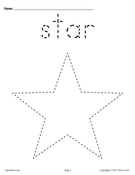 printable tracing shapes worksheets free star tracing worksheet printable tracing shapes