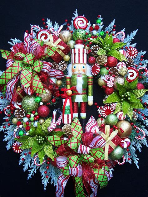 decorative nutcrackers for christmas nutcracker wreath lg nutcracker wreath by uptownoriginals on etsy wreaths
