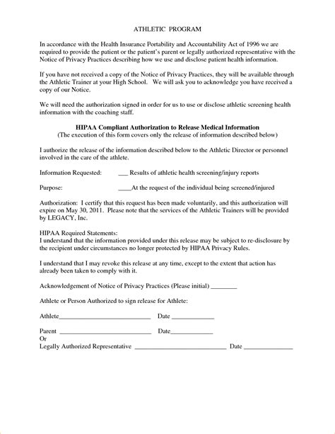 Hipaa Release Letter Hipaa Compliant Authorization Form 53399702 Png Pay Stub Template