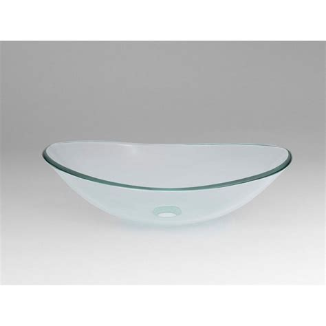 ronbow glass vessel sinks ronbow boat tempered glass vessel bathroom sink in clear