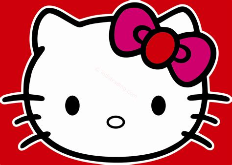 St 017 Wall Sticker Kucing gambar wallpaper lucu merah stok wallpaper
