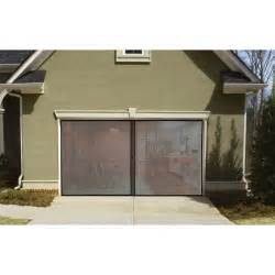 single garage door screen keeps the bugs out of your