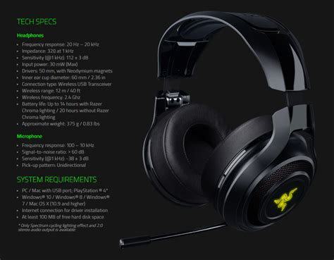 Razer O War 7 1 Green Surround Gaming razer o war 7 1 wireless pc gaming headset rz04 01490100 pc gear